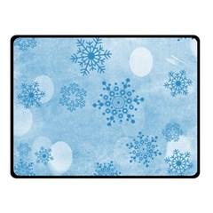 Winter Bokeh Blue Fleece Blanket (Small)
