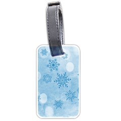 Winter Bokeh Blue Luggage Tags (Two Sides)