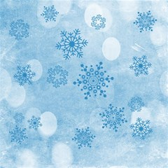 Winter Bokeh Blue Magic Photo Cubes