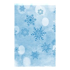 Winter Bokeh Blue Shower Curtain 48  x 72  (Small)