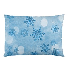 Winter Bokeh Blue Pillow Cases (two Sides)
