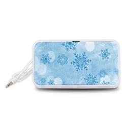Winter Bokeh Blue Portable Speaker (White)