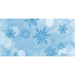 Winter Bokeh Blue You Are Invited 3d Greeting Card (8x4)
