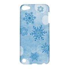Winter Bokeh Blue Apple iPod Touch 5 Hardshell Case