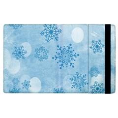 Winter Bokeh Blue Apple iPad 3/4 Flip Case