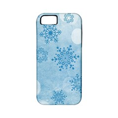 Winter Bokeh Blue Apple iPhone 5 Classic Hardshell Case (PC+Silicone)