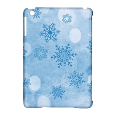 Winter Bokeh Blue Apple Ipad Mini Hardshell Case (compatible With Smart Cover)