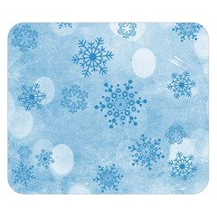 Winter Bokeh Blue Double Sided Flano Blanket (Small)