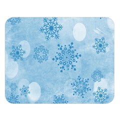 Winter Bokeh Blue Double Sided Flano Blanket (large)