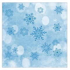Winter Bokeh Blue Large Satin Scarf (Square)