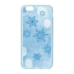 Winter Bokeh Blue Apple Seamless iPhone 6/6S Case (Color)