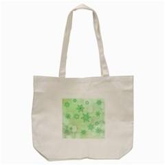 Winter Bokeh Green Tote Bag (cream)