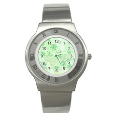 Winter Bokeh Green Stainless Steel Watches