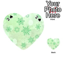 Winter Bokeh Green Playing Cards 54 (heart)