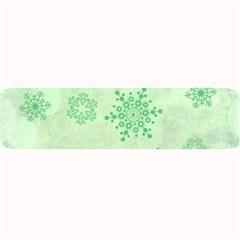 Winter Bokeh Green Large Bar Mats