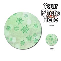 Winter Bokeh Green Multi-purpose Cards (Round)