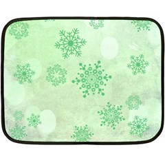 Winter Bokeh Green Fleece Blanket (mini)