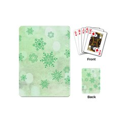 Winter Bokeh Green Playing Cards (Mini)