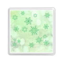 Winter Bokeh Green Memory Card Reader (Square)
