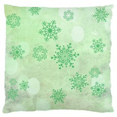 Winter Bokeh Green Large Cushion Cases (One Side)