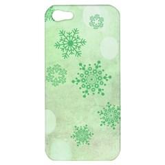 Winter Bokeh Green Apple iPhone 5 Hardshell Case