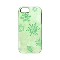 Winter Bokeh Green Apple iPhone 5 Classic Hardshell Case (PC+Silicone)