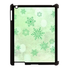 Winter Bokeh Green Apple iPad 3/4 Case (Black)