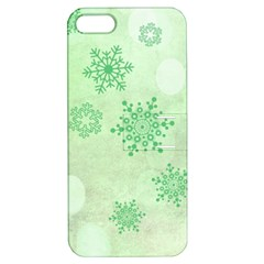 Winter Bokeh Green Apple iPhone 5 Hardshell Case with Stand