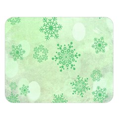 Winter Bokeh Green Double Sided Flano Blanket (large)