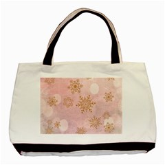 Winter Bokeh Pink Basic Tote Bag