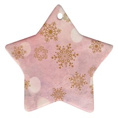 Winter Bokeh Pink Star Ornament (Two Sides)
