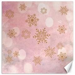 Winter Bokeh Pink Canvas 20  x 20