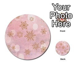 Winter Bokeh Pink Multi-purpose Cards (Round)