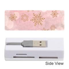 Winter Bokeh Pink Memory Card Reader (Stick)