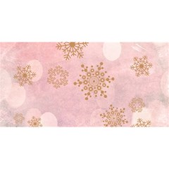 Winter Bokeh Pink You Are Invited 3d Greeting Card (8x4)