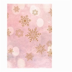 Winter Bokeh Pink Small Garden Flag (two Sides)
