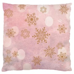 Winter Bokeh Pink Large Cushion Cases (One Side)