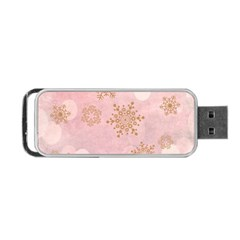 Winter Bokeh Pink Portable USB Flash (One Side)