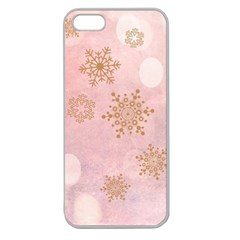 Winter Bokeh Pink Apple Seamless iPhone 5 Case (Clear)