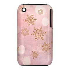 Winter Bokeh Pink Apple iPhone 3G/3GS Hardshell Case (PC+Silicone)