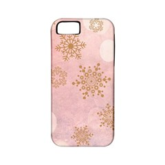 Winter Bokeh Pink Apple iPhone 5 Classic Hardshell Case (PC+Silicone)