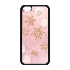 Winter Bokeh Pink Apple iPhone 5C Seamless Case (Black)