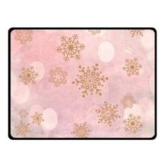 Winter Bokeh Pink Double Sided Fleece Blanket (Small)