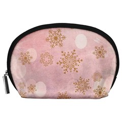 Winter Bokeh Pink Accessory Pouches (Large)