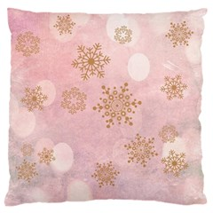 Winter Bokeh Pink Standard Flano Cushion Cases (one Side)