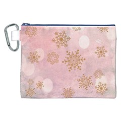 Winter Bokeh Pink Canvas Cosmetic Bag (XXL)
