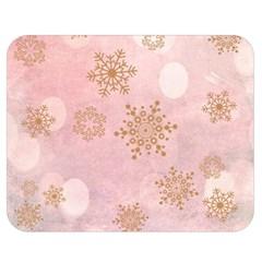 Winter Bokeh Pink Double Sided Flano Blanket (Medium)