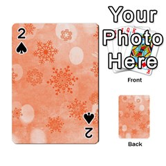 Winter Bokeh Red Playing Cards 54 Designs
