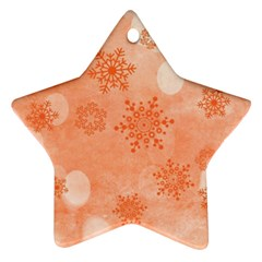 Winter Bokeh Red Star Ornament (Two Sides)