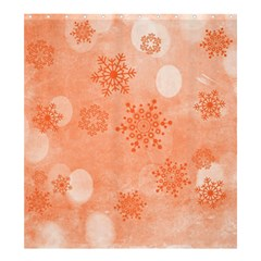 Winter Bokeh Red Shower Curtain 66  x 72  (Large)